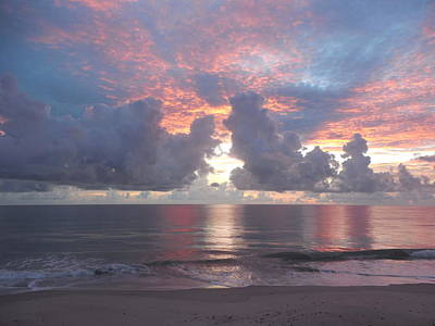 Photograph - Sunrise 1 Vero Beach by Carol Knapp