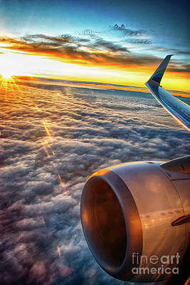 Boeing 737-900 Wall Art - Photograph - Sunrise 16787.5 Feet Over Clouds And Washingtonia by Joe Kunzler