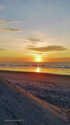 Photograph - Sunrise Across The Beach by Patricia Walter