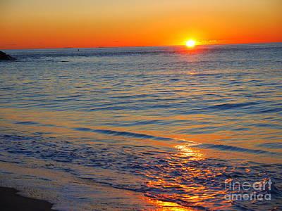 Photograph - Sunrise Across The Ocean by Nancie DeMellia