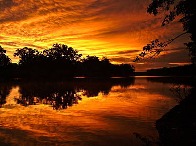 Oklahoma Photograph - Sunrise After A Rainy Night by Kareem Farooq