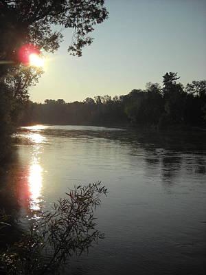 Photograph - Sunrise Along Mississippi River Bank by Kent Lorentzen