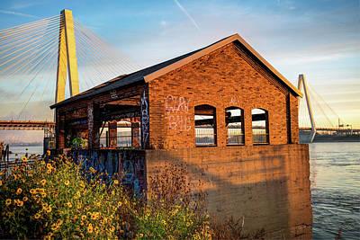 Photograph - Sunrise Along The Mississippi River - Saint Louis Missouri by Gregory Ballos