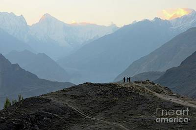 Photograph - Sunrise Among The Karakoram Mountains In Hunza Valley Pakistan by Imran Ahmed