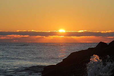 Photograph - Sunrise And A Little Splash by Robert Banach