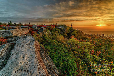 Photograph - Sunrise And Clouds Bear Rocks by Thomas R Fletcher