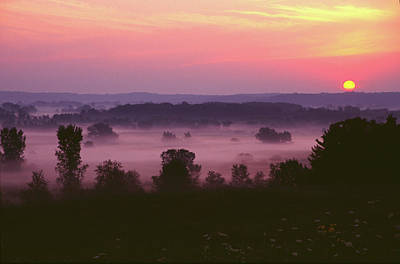 Photograph - Sunrise And Fog by Bernard Lynch