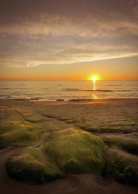 Photograph - Sunrise And Rocks. by Gary Gillette