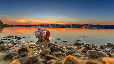 sunrise and Shell On The Beach Original