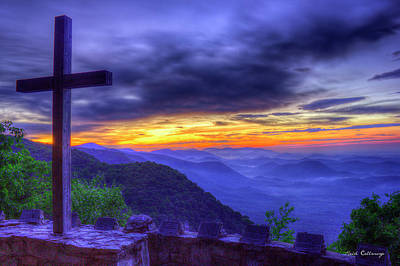 Sunrise And The Cross Pretty Place Chapel Art Art Print by Reid Callaway