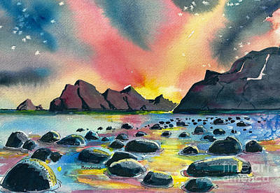 Sunrise And Water Art Print by Terry Banderas