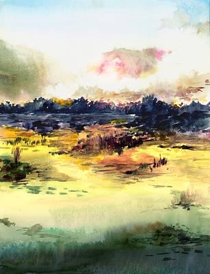 Anil Nene Painting - Sunrise by Anil Nene