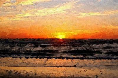 Hawaii Digital Art - Sunrise by Anthony Fishburne