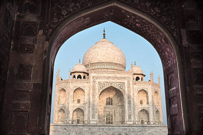 Sunrise Arches Of The Taj Mahal Art Print