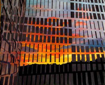 Painting - Sunrise by Art Nomad Sandra  Hansen