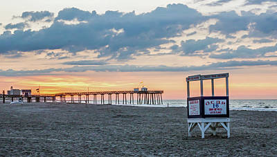 Sunrise At 16th Street Ocean City New Jersey Art Print