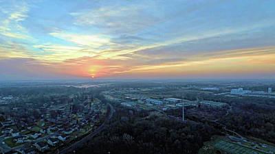 Digital Art - Sunrise At 400 Agl by Dave Luebbert