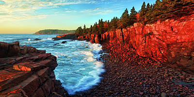 Manipulation Photograph - Sunrise At Acadia by ABeautifulSky Photography by Bill Caldwell