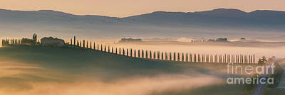 Sunrise At Agriturismo Poggio Covili Art Print by Henk Meijer Photography