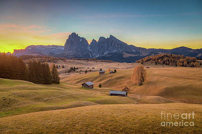 Photograph - Sunrise At Alpe Di Siusi by JR Photography