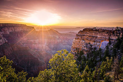 Wonders Of The World Photograph - Sunrise At Angel's Window Grand Canyon by Scott McGuire