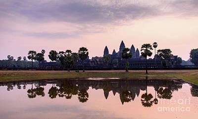 Photograph - Sunrise At Angkor Wat by Sandy Molinaro
