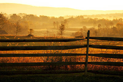 Sunrise At Antietam Print by Brian M Lumley
