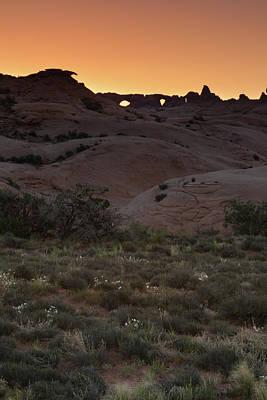 Photograph - Sunrise At Arches National Park by David Watkins