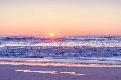 Sunrise At Assateague - Washed Art Print by SharaLee Art