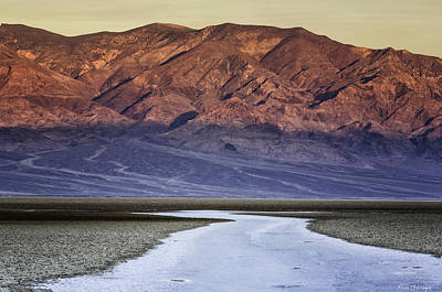 Photograph - Sunrise At Badwater by Fran Gallogly
