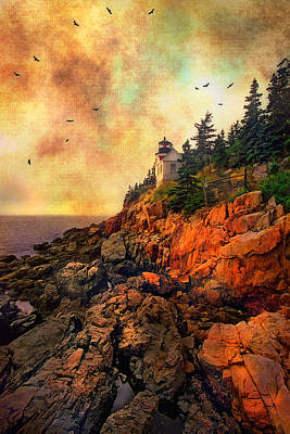 Photograph - Sunrise At Bass Harbor Head Light - Acadia National Park - Maine by Joann Vitali