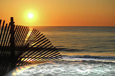 Bethany Beach Wall Art - Photograph - Sunrise At Bethany Beach by Delmarva Dreams