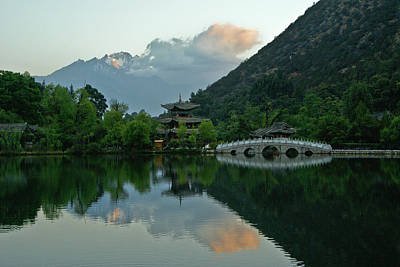 Photograph - Sunrise On Jade Dragon Snow Mountain by Michele Burgess