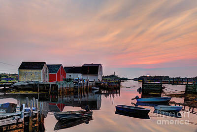 Photograph - Sunrise At Blue Rocks Nova Scotia by Jean Hutchison