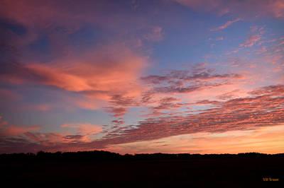 Photograph - Sunrise At Bluestem Prairie Preserve by Kathy M Krause
