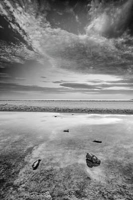 Tarifa Photograph - Sunrise At Bolonia Beach Bw by Guido Montanes Castillo