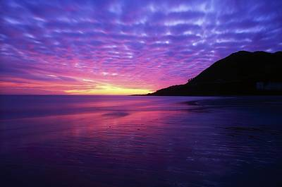 Sunrise At Bray Head, Co Wicklow Art Print by The Irish Image Collection