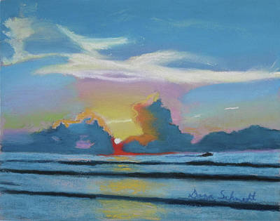 Painting - Sunrise At Cape Canaveral Beach by Dana Schmidt