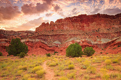 Photograph - Sunrise At Capitol Reef. by Johnny Adolphson