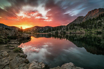 Sunrise At Cecret Lake Art Print by James Udall