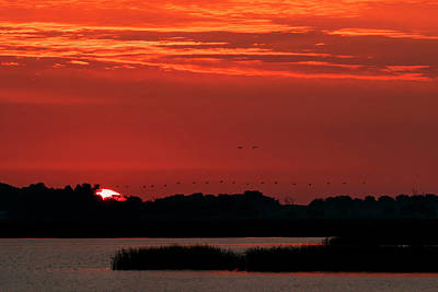 Photograph - Sunrise At Cheyenne Bottoms 04 by Rob Graham
