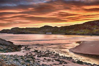 Photograph - Sunrise At Clashnessie Beach by Chris Puddephatt