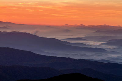 Photograph - Sunrise At Clingmans Dome In The Smoky Mountains by Teri Virbickis