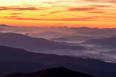 Photograph - Sunrise At Clingmans Dome by Teri Virbickis