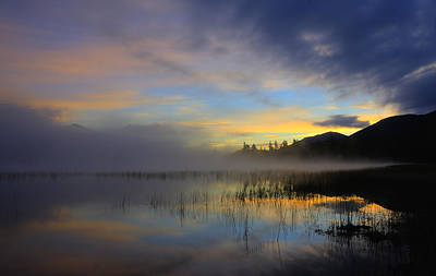 Sunrise At Connery Pond 3 Art Print by Tony Beaver