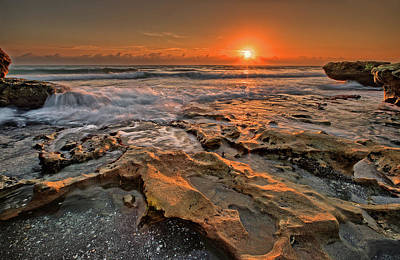 Photograph - Sunrise At Coral Cove by David A Lane