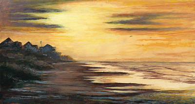 Painting - Sunrise At Crystal Beach by Randy Welborn