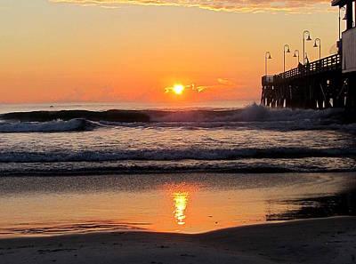 Photograph - Sunrise At Daytona Beach Pier  008  by Chris Mercer