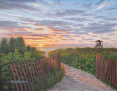 Sunrise At Delray Beach Art Print by Bruce Dumas