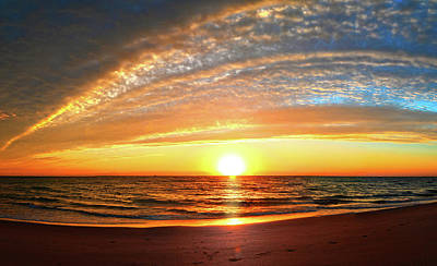 Photograph - Sunrise At Delray Beach Panorama by Lynn Bauer